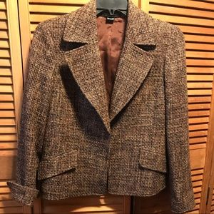 Ellen Tracey Classic Tweed Boucle Jacket